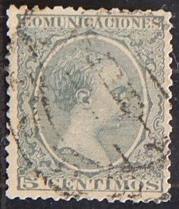 Spain, 1899 King Alfonso XII - As Previous, New Colors, YT #199, (1627-T)