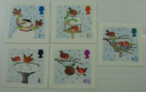 Great Britain SC #2002-2006 Illustrated Art - Winter Scenes MNH  stamps