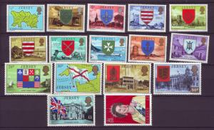 J14129 JLstamps 1976-7 great britain jersey set mnh #137-55 no 141,143,147