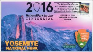 16-396, 2016, Yosemite NP, National Park Centennial, Pictorial Cancel
