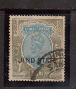 India (Jind) #124 VF Used & Rare
