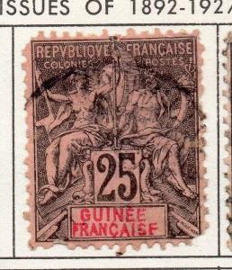 French Guinea 1890s Early Issue Fine Used 25c. 193442