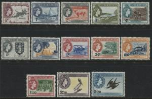British Virgin Islands QEII 1956 complete set to $4.80 mint o.g.