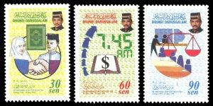 Brunei 1998 Scott #535-537 Mint Never Hinged