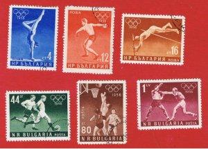 Bulgaria #940-945 VF used  Olympics  Free S/H