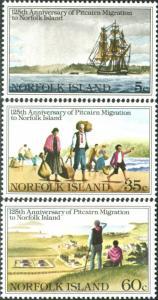 Norfolk Island 1981 SG258-260 Migration set MNH
