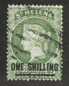 Saint Helena Scott 23 Used Crown CC wmk 1868 CV$160