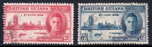 British Guiana - Scott #242-243 - Used - SCV $1.40