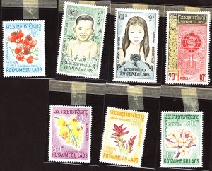 Laos #Mint Collection of Stamps, Mixed Condition
