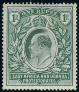 EAST AFRICA & UGANDA-1907 1r Green Sg 26 MOUNTED MINT V15523