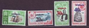 J22708 Jlstamps 1964 sierra leone set mnh #c28-31 ovpt,s