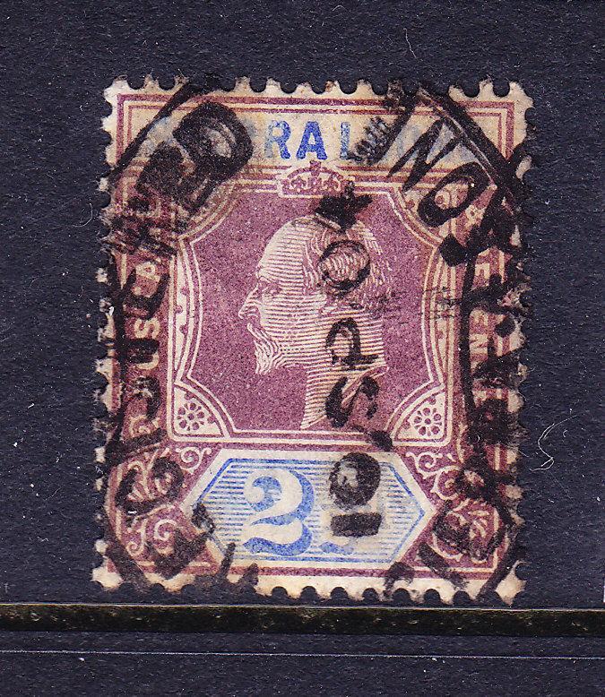 SIERRA LEONE  1903  2 1/2d  KEVII  GU  SG 77