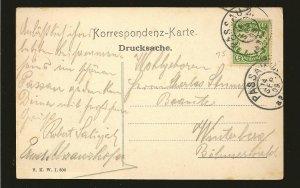 Bavaria 62 on PM 1909 Passau Postcard Used