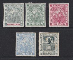 Barbados x 5 MH earlies (1897-1903)