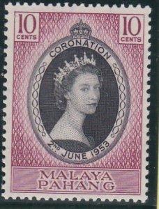 Malaya - Pahang # 71, Queen Elizabeth's Coronation, Hinged, 1/3 Cat.