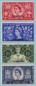 MOROCCO 579 - 582  MINT NEVER HINGED OG ** CORONATION - TONE SPOTS - V260