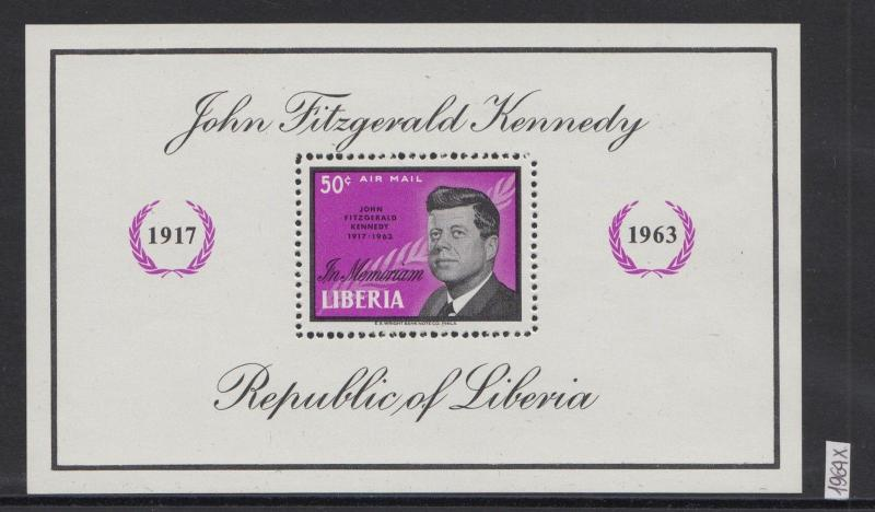 XG-W447 LIBERIA - Kennedy, 1964 In Memoriam, Airmail MNH Sheet