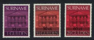 Suriname High Values overprints 3v SG#1308+1309+1357