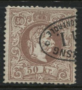 1867 Austria 50 kr brown Franz Josef CDS used