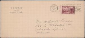 United States, California, 1940's Commemoratives, Slogan Cancel