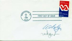 US Scott 1825 VA FDC Signed by Postmaster Gen. William Bolger