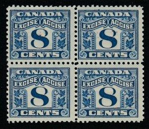 Kanada (Umsatz) Transporter Damm FX41, MNH Block Of Vier