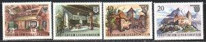 Liechtenstein. 1981. 780-83. Architecture, castles. MNH.