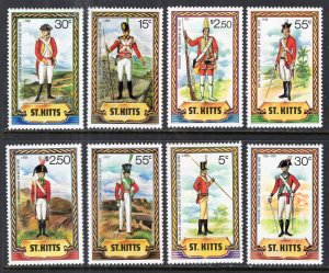 St Kitts 67-74 Military Uniforms MNH VF