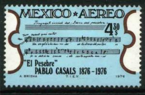 MEXICO C532 Birth Cent of Cellist Pablo Casals MINT, NH. VF.