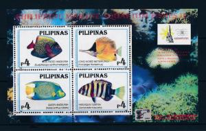 [49089] Philippines 1996 Marine life Fish with logo China 96 MNH Sheet
