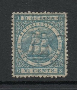 British Guiana, Sc 64a (SG 72), MHR, w/ Papermaker's watermark