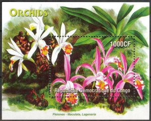 Congo 2005 Flowers Orchids S/S MNH Cinderella !