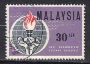 MALAYSIA SC# 10 **USED** 1963  30s    SEE SCAN