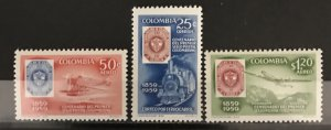 Colombia 1959 #C351-3, MNH, CV $4.25