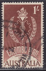 Australia 340 USED 1961 Columbo Plan 1'-