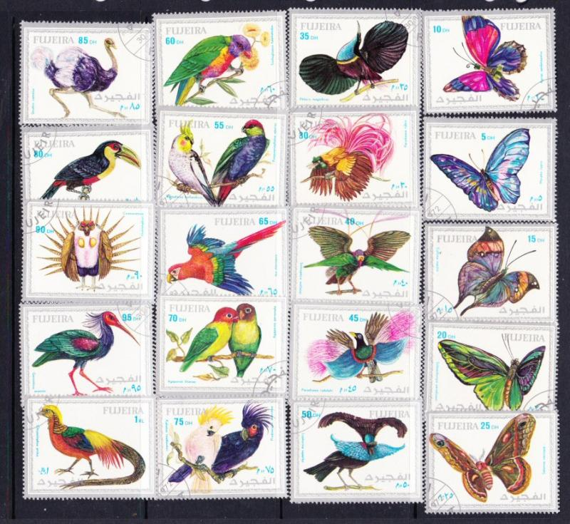 Fujeira butterflies & birds set of 20