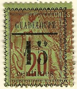 Guadeloupe SC #8 French Colony Fine Mint hr.....Make me an Offer!