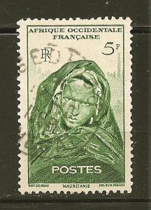 French West Africa 49 Girl of Mauritania Used
