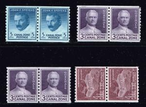 United States>Possessions CANAL ZONE MNH COIL PAIR STAMPS LOT