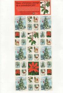 USA National Wildlife Federation Christmas Stamps 1982 Sheet of 36 MNH #2