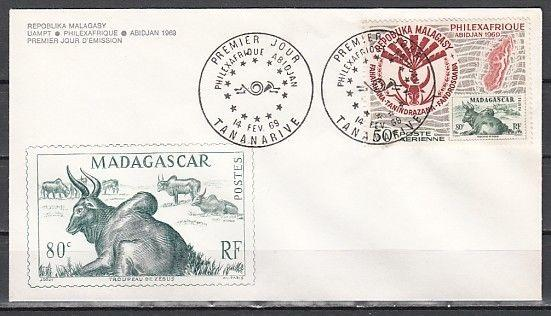 Malagasy Rep., Scott cat. C92. Philexfrance, S.O.S issue on a First day cover.