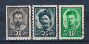 Russia 942-44 Used set Heros of civil war 1944 (R0516)