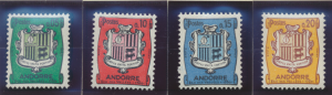 Andorra (French Administration) Stamps Scott #143 To 146, Mint Hinged, Short ...