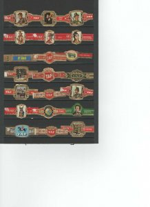 CIGAR BANDS....TAF TYPE...ALL DIFFERENT (CB-003)