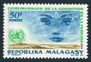 Malagasy 407 two stamps,MNH.Mi 576. UN Commission on the Status of Women,1967.