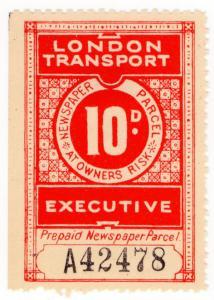 (I.B) London Transport Executive : Railway Newspapers 10d