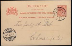 PAYS-BAS / NEDERLAND - 1902 Grootrond Stempel SCHEVENINGEN KURHAUS 5c Kaart