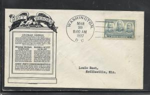 US #793-6 Navy Heores Anderson cachet addressed