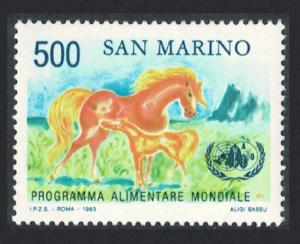 San Marino Horses World Food Programme SG#1217