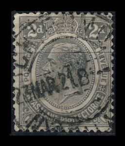 NYASALAND - 1921 - SG103 CANCELLED CHIROMO DOUBLE CIRCLE DATE STAMP
